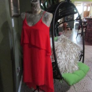 RED HIGH LOW DRESSY DRESS!